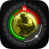 Compass GPS Pro  Military Compass with camera icon