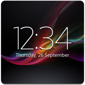 Digital Clock Widget Xperia Premium v6.0.2.405