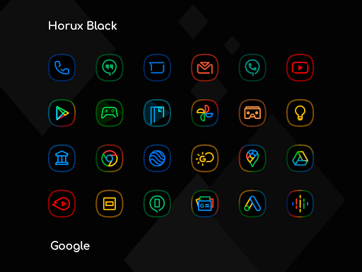 Horux Black - Icon Pack