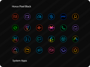 Horux Black - Round Icon Pack v3.2 (Patched)