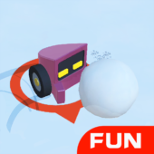 Snowmobile Battle-fun snowball collision .IO Games icon