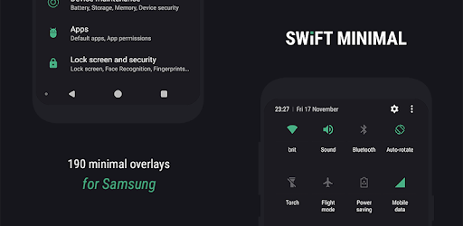 Swift Minimal for Samsung - Substratum Theme